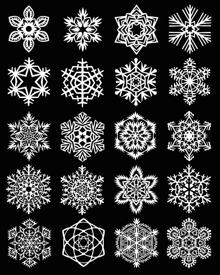 Copos de nieve para la navidad en papel : cosascositasycosotasconmesh