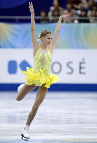 Polina Edmunds Polina Edmunds of USA competes in the Junior ladies's short program during day one of the ISU Grand Prix of Figure Skating Fi...