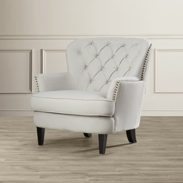 Tufted Upholstered Club Chair on