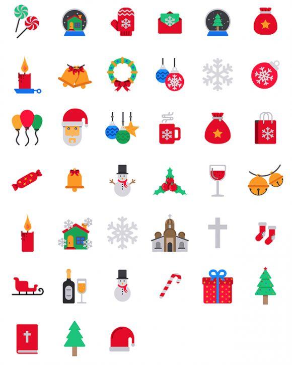 39 New Free Christmas Icons