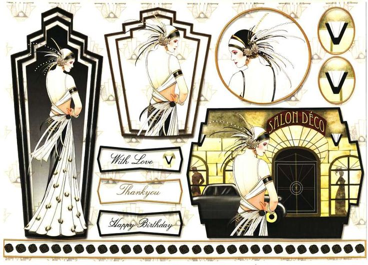 Debbi Moore Designs - Art Deco Paris card toppers #4 - FoilPlay.co.uk