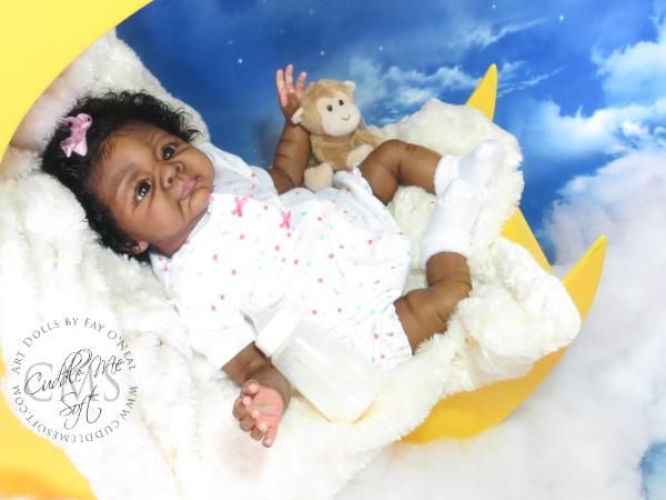 Adorable Ethnic Reborn Baby girl for sale - www.cuddlemesoft.com