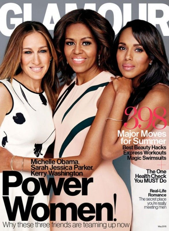Power women! Michelle Obama, Sarah Jessica Parker and Kerry Washington cover Glamour Magazine
