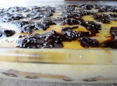 Receita de Pavê Olho de Sogra - pavê. Polvilhe com o coco ralado e leve à geladeira até o momento de...