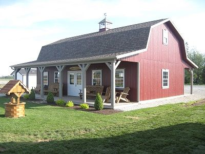 79 best images about barns on pinterest old barns for Amish built pole barn houses