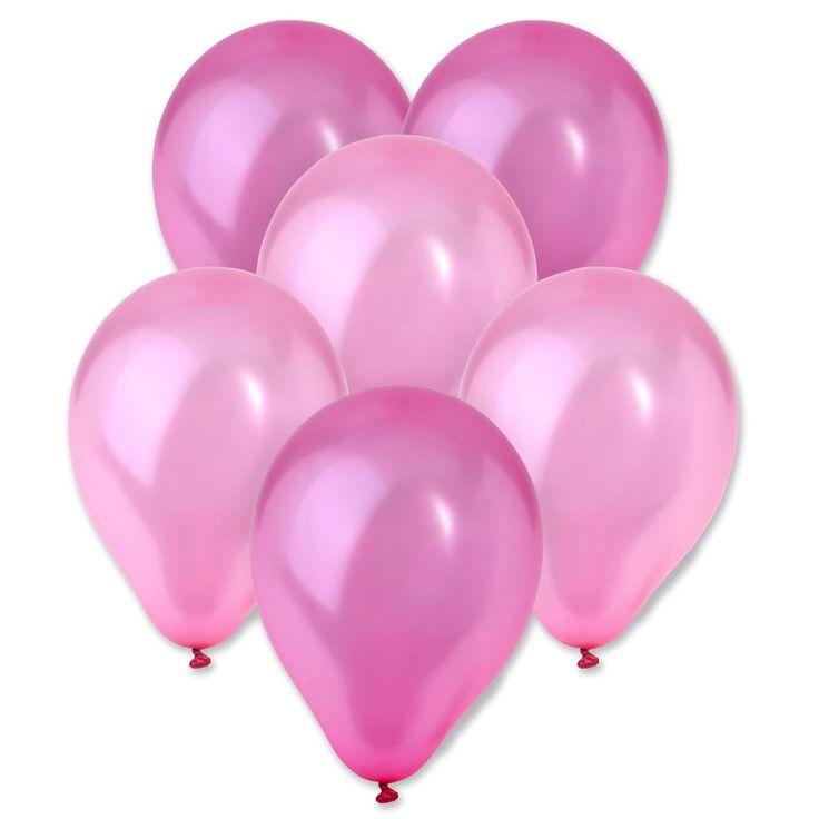 Η συσκευασία περιέχει 10 μεταλλιζέ ροζ και φούξια μπαλόνια των 23 εκ.    Ο κωδικός είναι assortment, οπότε δεν υπάρχει δυνατότητα συγκεκριμένης