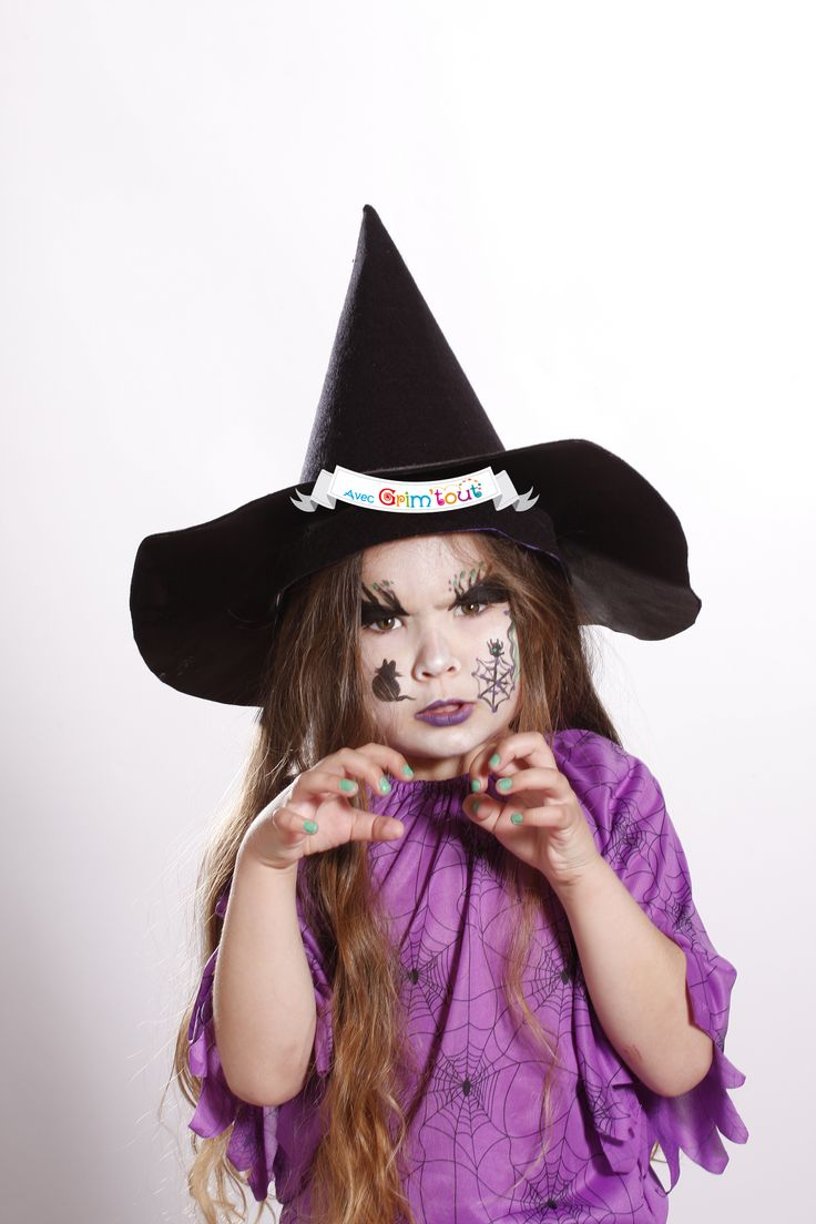 Maquillage sorci re maquillage d 39 halloween pinterest - Maquillage enfant sorciere ...