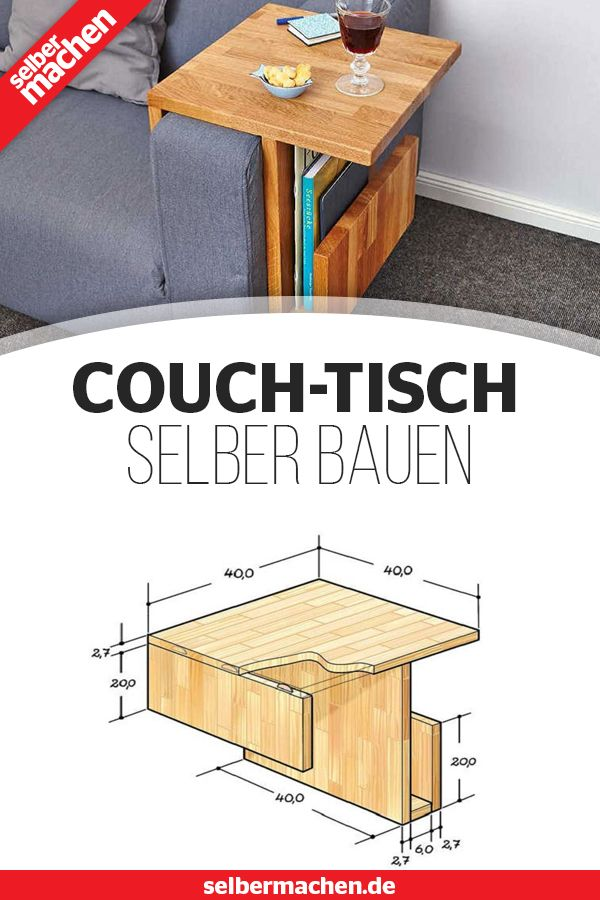 Couch Caddy Im Eigenbau Couchtisch Selber Bauen Tisch Selber