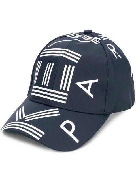 58e108a834f KENZO logo printed cap