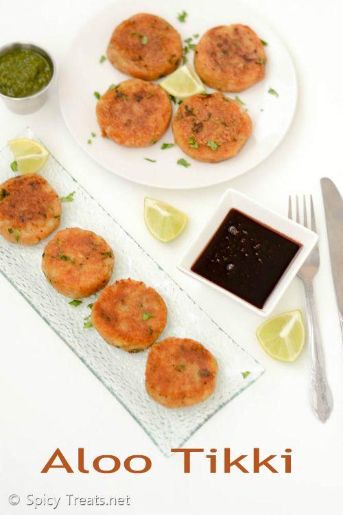 Spicy Treats: Aloo Tikki Recipe   Indian Style Potato Patties Recipe   Aloo Tikki - Easy Snack Recipe