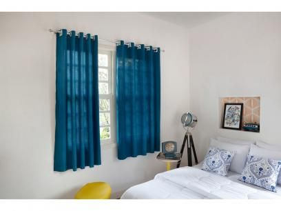 Cortina para Quarto/Sala Azul Petróleo Santista - York Lisa 2,80X1,80m com as melhores condições você encontra no Magazine Raimundogarcia. Confira!