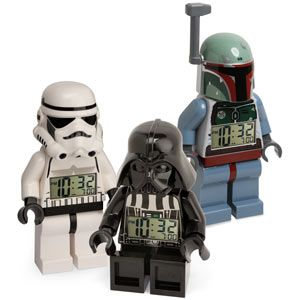 lego star wars minifig alarm clock  -Posable arms and legs, so your fig can sit or stand @Carissa Maskus