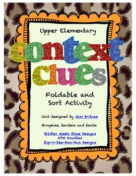 Context clues can be difficult for students to master. The goal is for students to be able to use clues in the text to find the meaning of an unfamiliar word. In order to do this, kids need some tools to help them find and use context clues. With this engaging, yet rigorous, packet, students will go beyond identifying word meanings and look at six different ways to use context clues to define unknown words.