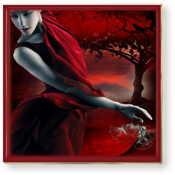 """red nature"" by mimib06 on Polyvore"