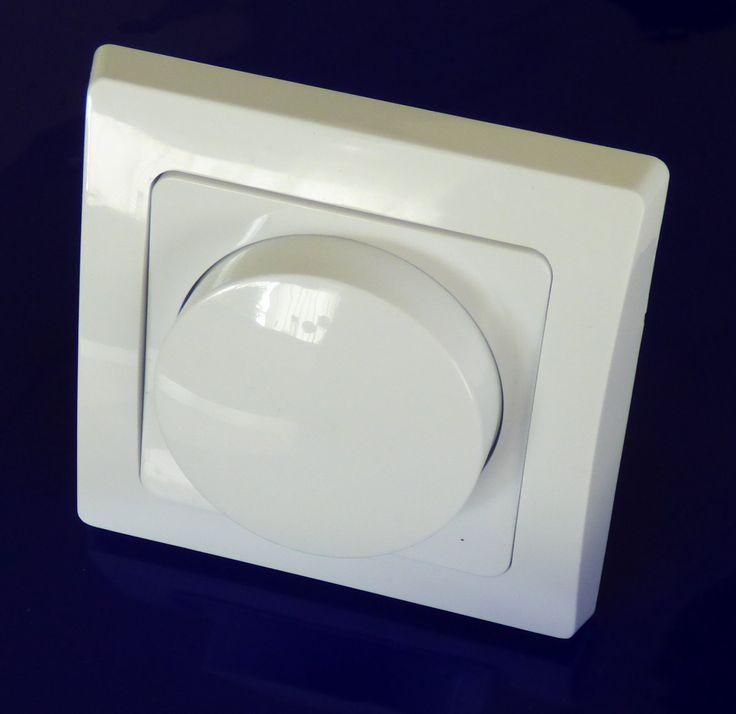 Delphi Rahmen und Platte mit Knopf für für LED Dimmer.