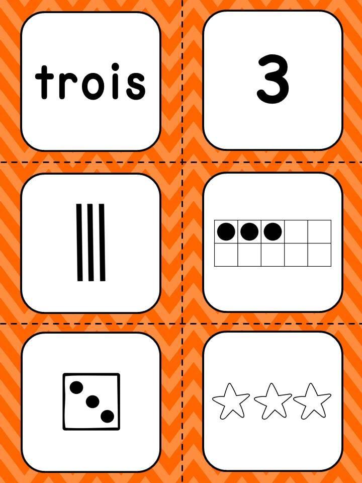 Nombres 1-20 - Référentiel Différentes façons de représenter les nombres.