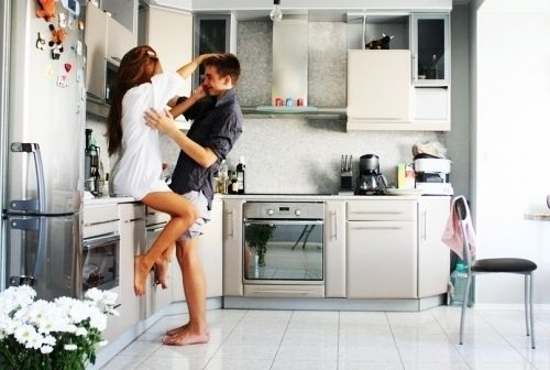 Make out in the kitchen...and on the table...and on the floor...and...  Want more date ideas for couples?  http://quainternational.com/blog/bucket-list-for-couples/