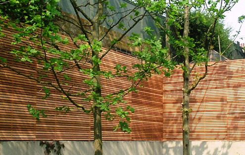 Contemporary Slatted Panels Slatted Fence Panels Essex