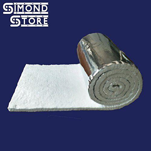 """Aluminium Foil Wrap Ceramic Fiber Blanket 6 Lbs. 2300ºF 1/2"""" x 24"""" x 12.5 feet"""