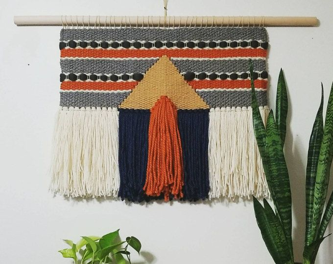 Large Woven Wall Hanging Mid Century Modern Woven Wall Art
