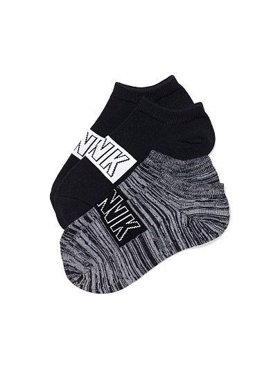 Victoria's Secret PINK Ankle Socks Set, black/black marl $8.95