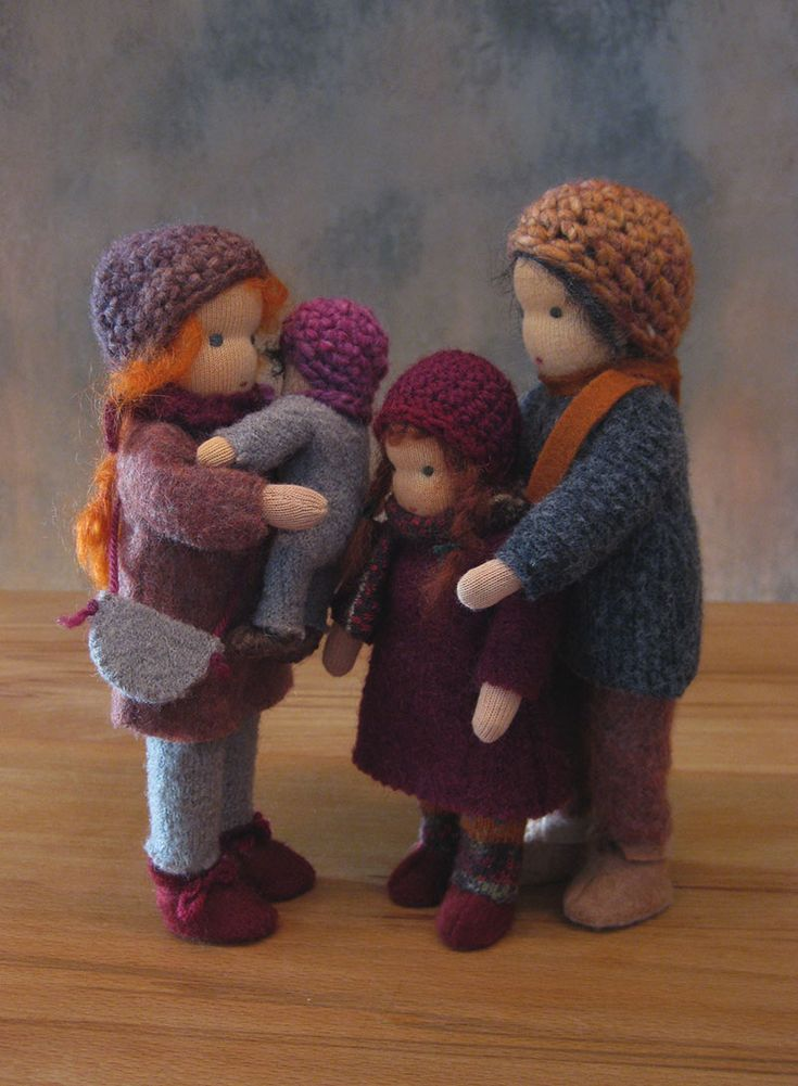 Dollhouse Waldorf dolls