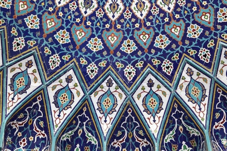 Stock image of 'Oriental mosaic inside of the Grand Mosque, Muscat Sultanate of Oman'