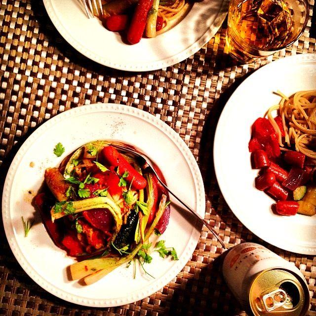 野菜不足を感じて、今日は身体にやさしいパスタにしました 炒めた島らっきょうも美味しい♥ - 196件のもぐもぐ - Japanese shallot veg pasta 島らっきょうと彩り野菜のシンプルパスタ by centralfields