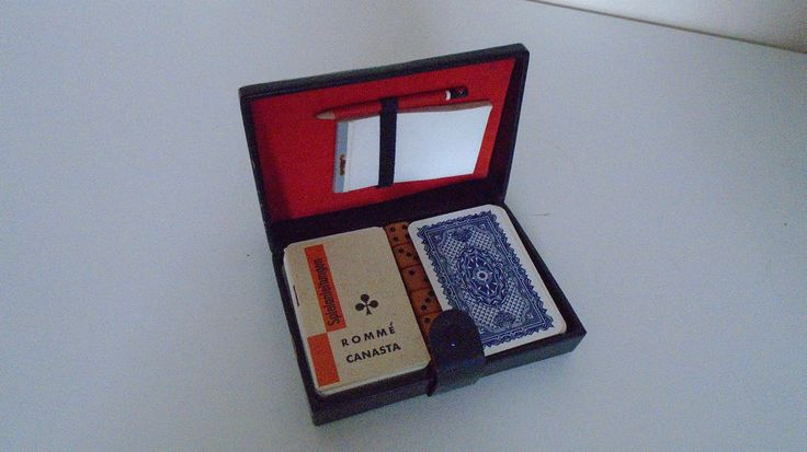 Vintage Romme Canasta Card Game.in Box. Complete. Free UK Postage.