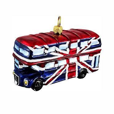 British Union Jack Double Decker Bus Ornament
