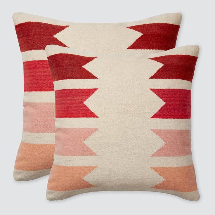Modern Throw Pillows - Peach | Handmade in Peru   – The Citizenry