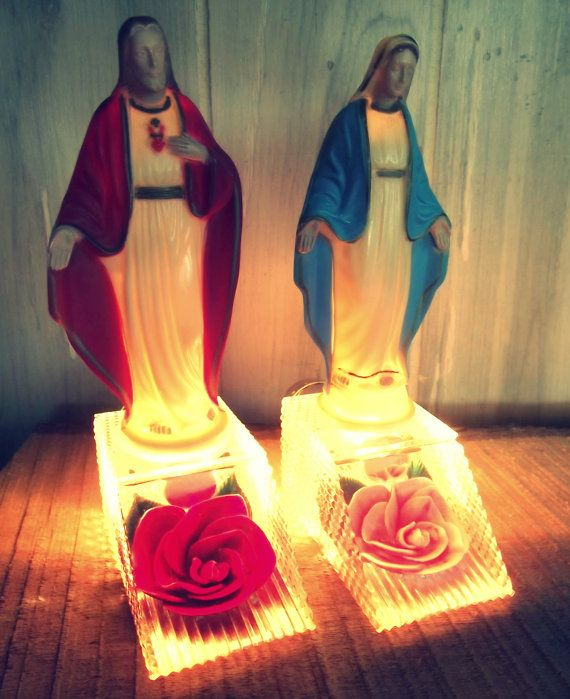 Vintage 1950 Matching PAIR of Religious Kitsch by blackforestrose, $68.00 ....i need....