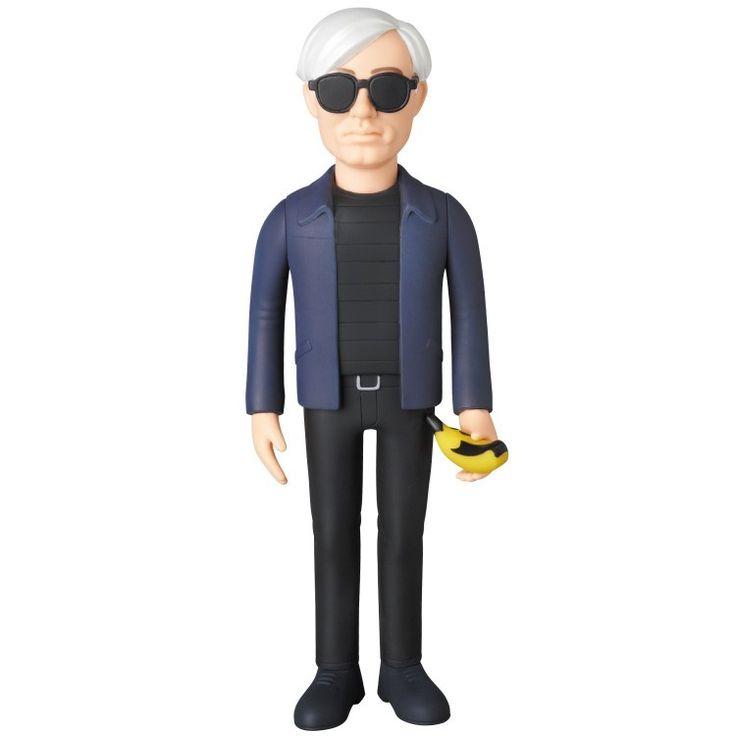 Medicom Andy Warhol Vinyl Collector Doll Action Figure (Silkscreen Green Version)