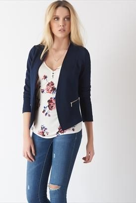 The basic work wear blazer you need now in blue