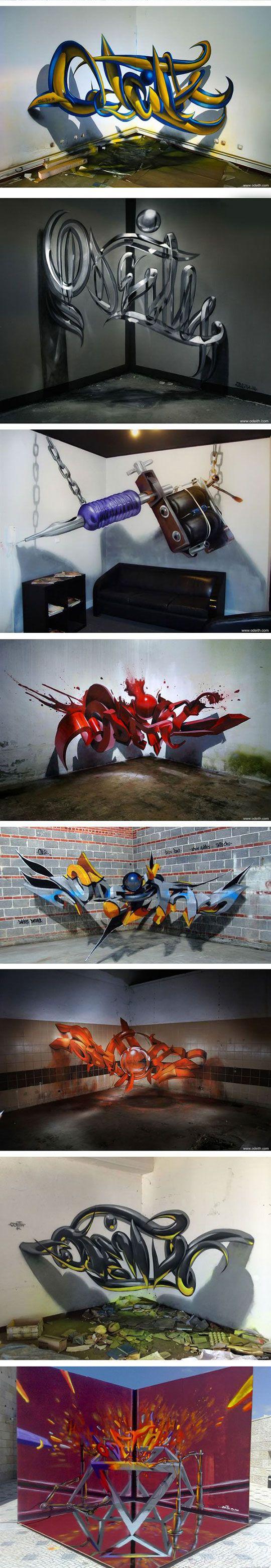 Portuguese Street Artist Creates Stunning 3D Graffiti That Seems To Float In The…   – Street – Art