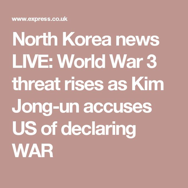 [Is this part of XO and IXXI global plan?..part of military fear-anger-patriotism-war-sacrifice provocation system?.. so black magicians can create required sacrifices/Loosh/human suffering to their possessing demons in exchange for demonic power?- with (demon) love, your leaders..] North Korea news LIVE: World War 3 threat rises as Kim Jong-un accuses US of declaring WAR