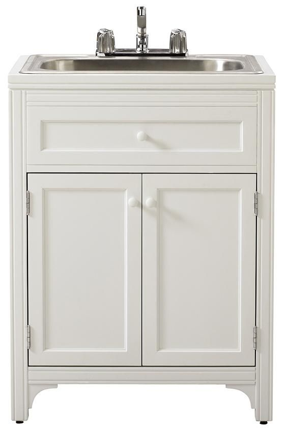 Ordered this for our laundry area- Martha Stewart Living™ Laundry Storage Utility Sink Cabinet - Laundry Hampers - Bath | HomeDecorators.com
