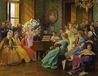 Bedrich Smetana és barátai 1865-ben Frantisek Dvorak