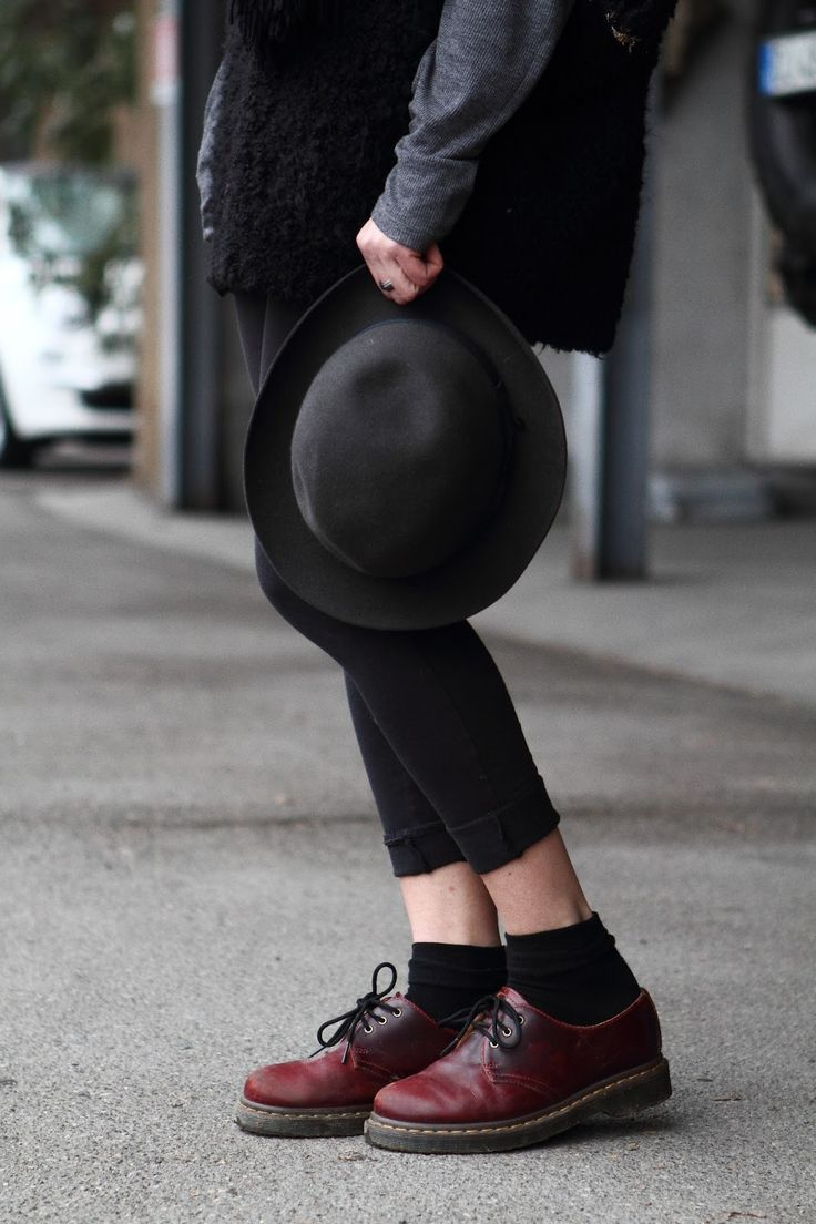 I love Dr.Martens and this Borsalino hat!!!
