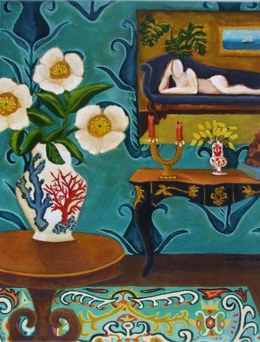 Interior Still life -Original Painting by Catherine Nolin, painting by artist Catherine Nolin