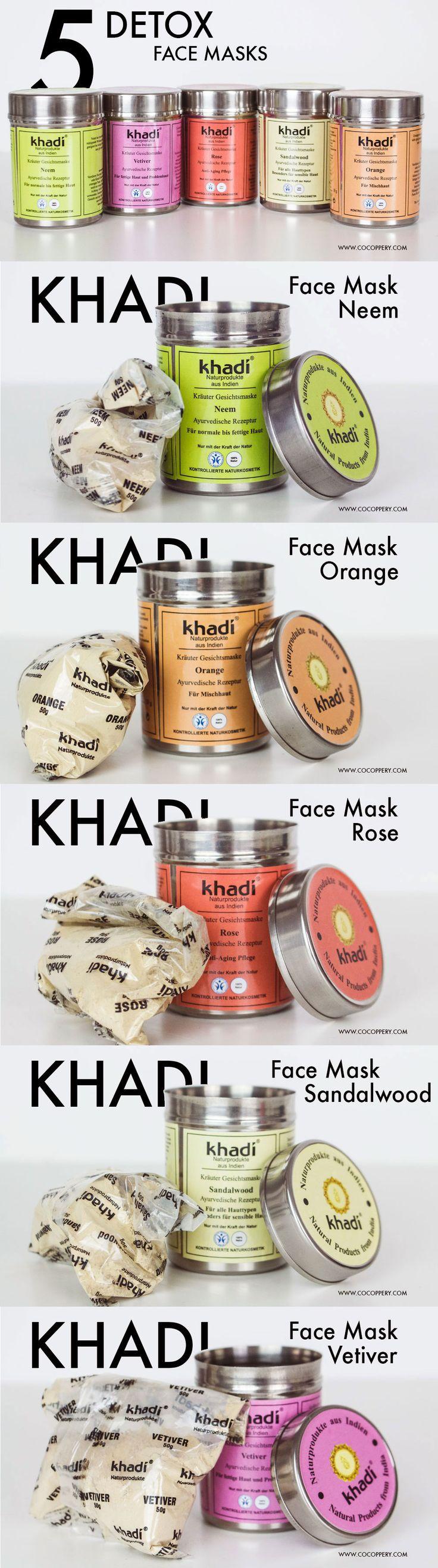 Check out Khadi's wonderful all-natural, herbal face masks & read the review! Khadi Neem, Khadi Vetiver, Khadi Rose, Khadi Sandalwood Powders / Pulver ♡ Cocoppery