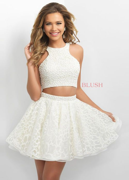 #2016 Beaded Halter Top Two Piece Open Back Cream Homecoming Dress 11154 [Blush 11154 Cream] - $186.00 : Prom Dresses 2016,Wedding Dresses & Gowns On Sale,Buy Homecoming Dresses From Ailsadresses.com