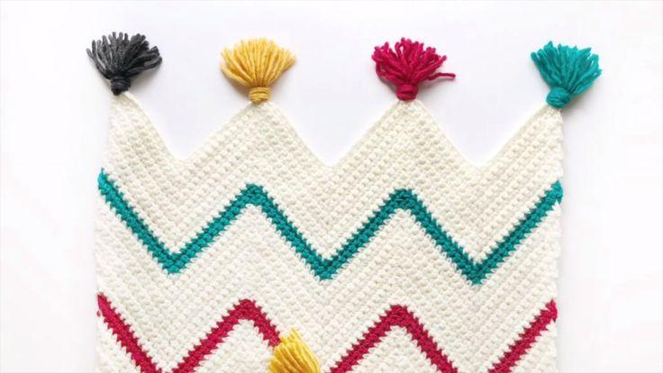 Video: How to Start a Crochet Chevron Blanket – Daisy Farm Crafts