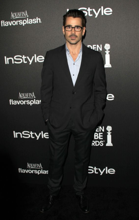 Colin Farrell wearing Dolce&Gabbana to the Hollywood Foreign Press Association (HFPA) and InStyle 2014 Miss Golden Globe Announcement Celebration on November 21, 2013.