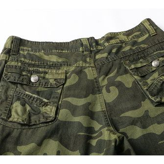 Men's Camouflage Casual Cargo Pants Straight Leg 6 Pockets Cotton Trousers at Banggood