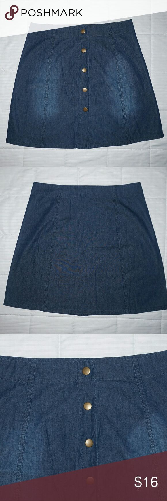Button up short Jean skirt In great condition Xhilaration Skirts Mini