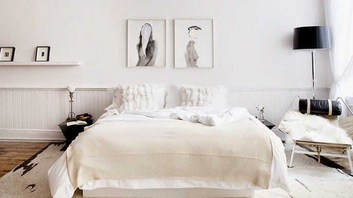 chambre blanche scandinave