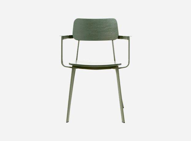 Cm0322 - Stol m. armlæn, Ace, army grøn, b.: 61 cm, h.: 82 cm, siddehøjde: 46 cm
