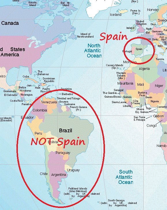 What Spain Is And Isn't. Spain is not Latin America!