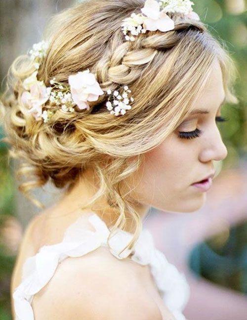 57 Wedding Hairstyles & Hair Ideas For Girls 2018 – #Girls #Hair #Hairstyles #Id…
